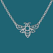Náhrdelníky - Náhrdelník včela - chirurg. oceľ/pozlatené - 11902583_