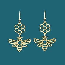 Náušnice - Náušnice včela 1 nerez/pozlátené - 11902635_