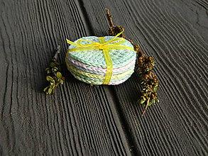Úžitkový textil - Bio sada odličovacích tamponů - 11906481_
