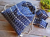 Batohy - Vak / batoh / ruksak - čičmany + 2 rúška - 11903974_