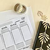 Papiernictvo - Týždenný plánovač A4 PDF - 11902258_