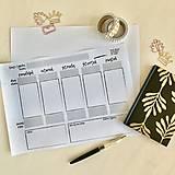 Papiernictvo - Týždenný plánovač A4 PDF - 11902259_