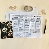 Papiernictvo - Týždenný plánovač A4 PDF - 11902260_