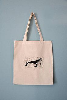 Iné tašky - Plátená taška, veľryby (Plátená taška, veľryba) - 11903382_