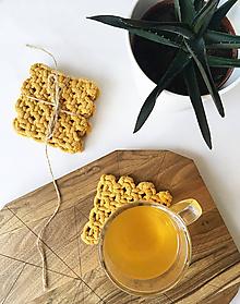 Úžitkový textil - Podložky pod poháre MUSTARD (5mm) - 11903720_