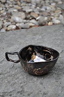 Nádoby - šálka bronzová trojuholník panská - 11902728_