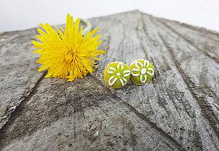Náušnice - Zelené náušnice kvet - 11904795_