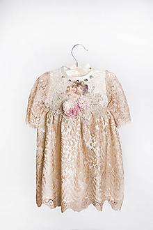 Detské oblečenie - Dievčenské spoločenské šaty VIOLA - 11904596_