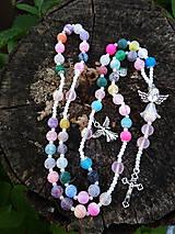 Iné šperky - Ruženec z achatu - 11904929_