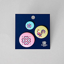 Brošne - Set odznakov krížiková - 11904096_