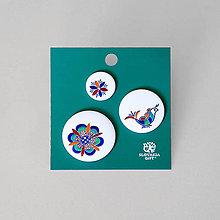 Brošne - Set odznakov plná výšivka - 11904111_