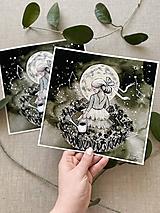 Obrazy - Pestovateľka hviezd, (ART PRINT) akvarel - 11902875_