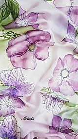Šály - Šál hodvábny - lila orchidea - 11907872_