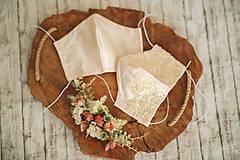 Rúška - Set svadobné rúška antibakteriálne s časticami striebra pre nevestu a ženícha - 11910914_