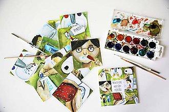 Grafika - Montessori kartičky- kúpelňa+wc+obliekanie - 11907465_