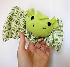 Hračky - Prstová maňuška zvieratko (drak na výber) - 11909162_