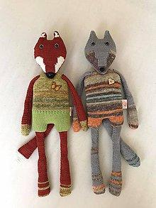 Hračky - líška a vĺčko - 11909625_