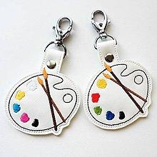 Kľúčenky - Prívesok maliarska paleta - 11908518_