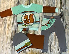 Detské súpravy - Originálna súprava s veveričkou - 11910845_