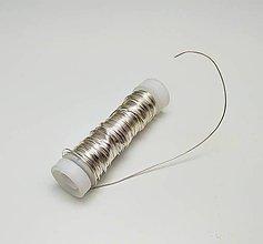 Suroviny - Dekoračný drôtik 0,5 mm - 11910327_