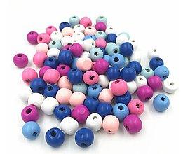 Korálky - Korálky drevené farebné 6 mm 2.TRIEDA - 11908680_