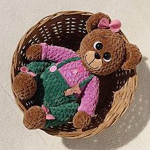 Hračky - Háčkovaná medvedica Filoménka - 11907851_