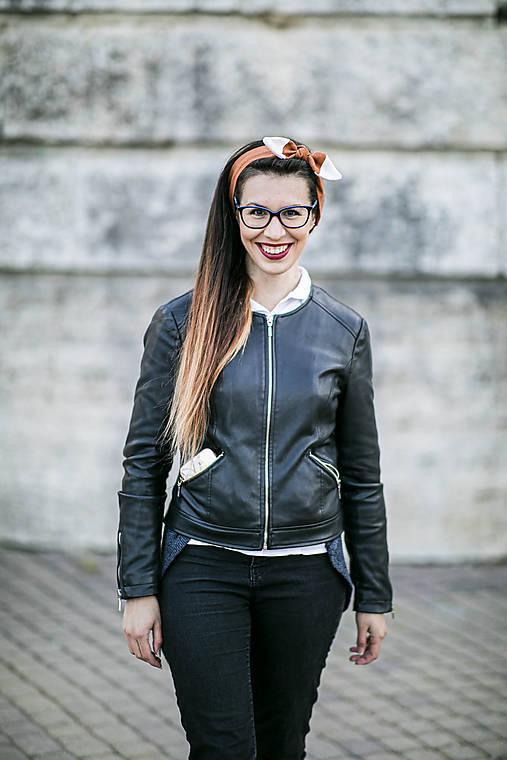 Ozdoby do vlasov - Čelenka Ľanová Líška - 11908296_