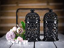Svietidlá a sviečky - Aromalampa černá - KVĚT ŽIVOTA - 11908096_