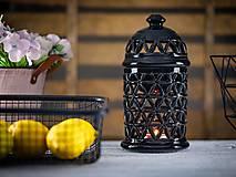 Svietidlá a sviečky - Aromalampa černá - KVĚT ŽIVOTA - 11908097_
