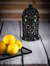 Svietidlá a sviečky - Aromalampa černá - 11908112_