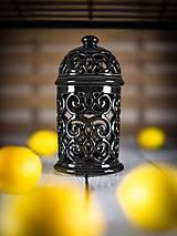 Svietidlá a sviečky - Aromalampa černá - 11908113_