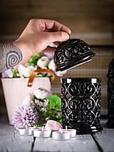 Svietidlá a sviečky - Aromalampa černá - 11908114_
