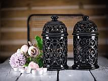 Svietidlá a sviečky - Aromalampa černá - 11908116_