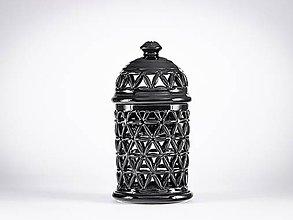 Svietidlá a sviečky - Aromalampa černá - KVĚT ŽIVOTA - 11908092_
