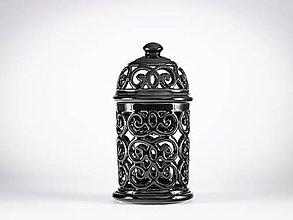 Svietidlá a sviečky - Aromalampa černá - 11908115_