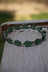 Náramky - Náramok lístočky zelené - 11910263_