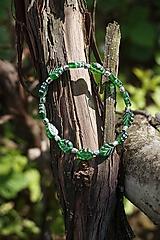 Náramky - Náramok lístočky zelené - 11910264_