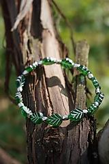 Náramky - Náramok lístočky zelené - 11910265_