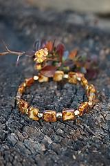 Náramky - Náramok hnedo - zlatý - 11910299_