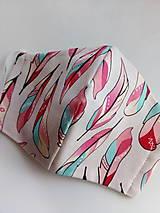 Rúška - Dámske dizajnové - pierka - 11909156_