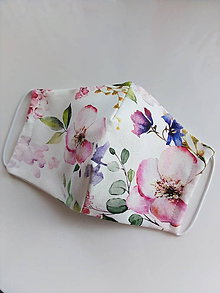 Rúška - Rúško dámske jabloňový kvet  - 11909803_