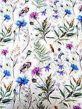 Textil - LETNÁ LÚKA - teplákovina - 11910324_