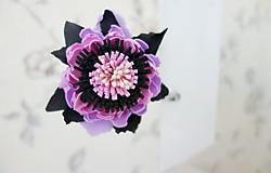 Sponka do vlasov Temný kvet
