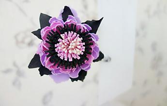 Ozdoby do vlasov - Sponka do vlasov Temný kvet - 11908313_