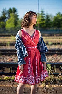 Šaty - Červené šaty - 11910352_