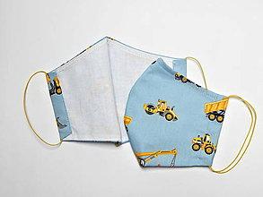 Rúška - Textilné rúško na tvár dvojvrstvové pre deti - šírka cca 10 cm - 11907052_