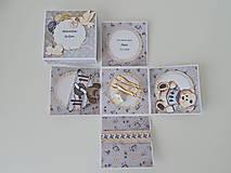 Papiernictvo - Darčeková krabička na peniaze ku krstu II - 11914617_