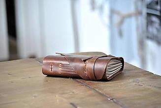 Papiernictvo - kožený zápisník DORIAN - 11913579_