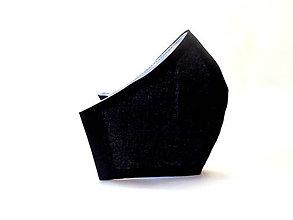 Rúška - Pánske čierne bavlnené rúško - 11913664_