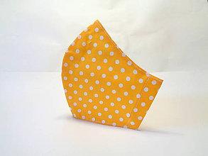 Rúška - Bodkované rúško žlté - 11913708_